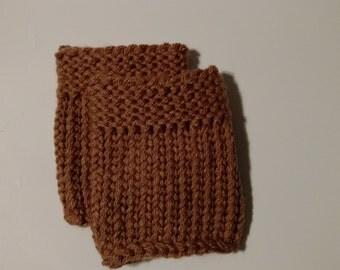 Tan Knit Boot Cuffs