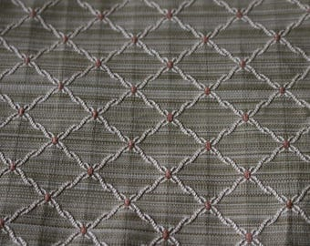 6 Upholstery fabric Lovely green diamond pattern with a brown spot...rope like effect
