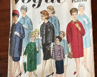 Vintage Vogue Pattern - Basic Coat Design