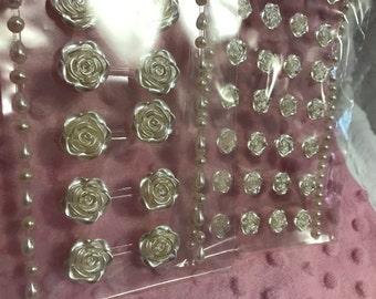 resin flower stickers