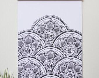 Print - Mandala Black