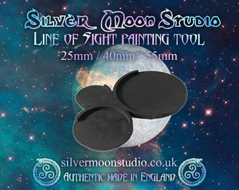Line of Sight Painting Tool MK2 *Now in flexi silicon!* (25mm / 40mm / 55mm) for miniature wargaming (Warhammer / Infinity / Warmachine)