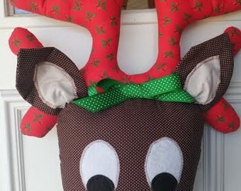 Handcrafted Rudolph Plush Door/Wall Hanging
