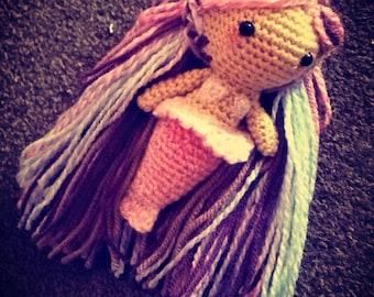 Mermaid crochet doll