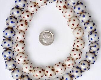 43 Old Venetian Raised Eye Beads - Vintage African Trade Beads - #RE35