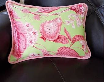 13x18 Berry print throw pillow