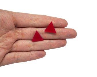 Triangle mini x20, Triangles earring supplies, Triangle mini earring, Geometrical shape triangle clips lasercut wood plexiglas - SET 20 pz