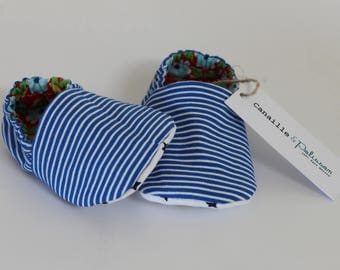 Royal Blue and white Poplin striped liner