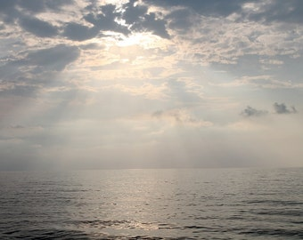 The sky and the sea-Photo-Horizontal-Gray-nature-Wall Art- - Digital Download - Instant Download-Digital poster-Marine decor