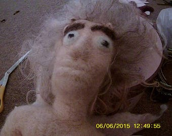 Moby (the nude winged Paleo faun doll)