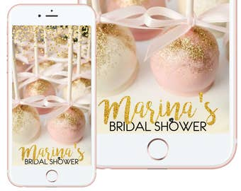 Glitter and Custom Color Birthday/ Bridal/Baby Shower Snapchat Filter