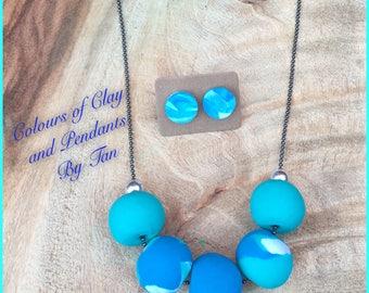 Gorgeous Handmade Bead Necklace - Blue Combo