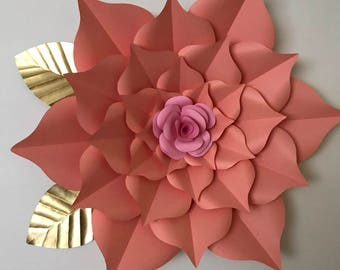 PDF Paper Flower Template, Digital Version, Including The Base - Giant 40 Inch Flower - The Rosa Mystica