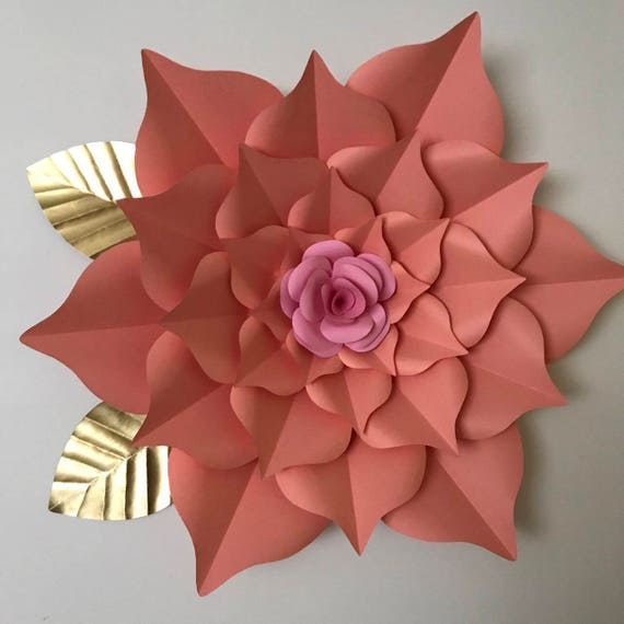 pdf paper flower template digital version including the base