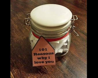 101 Reasons Why I Love You - A wonderful Handmade Gift For Your Love