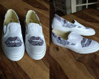 Unique hand-painted sneakers