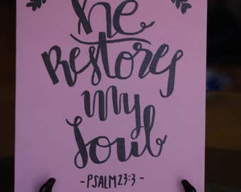 He Restores My Soul Canvas Painting