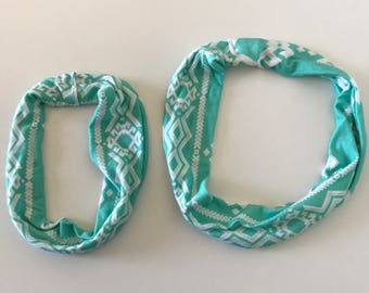 Aqua Tribal Infant / Toddler Infinity Scarf