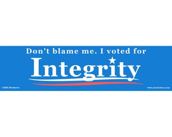 I Voted for Integrity