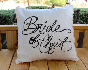 Bride of Christ 20x20 pillow
