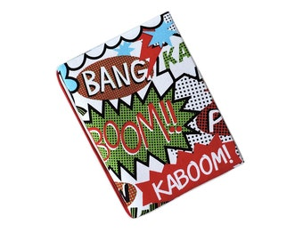 Planner cover A6. Hobonichi Cover A6 pop art print. A6 notebook cover. Journal cover.