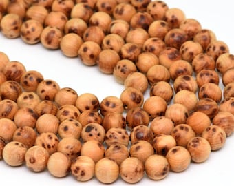 "8MM Aromatic Sandalwood Grade AAA Natural Wood Full Strand Round Loose Beads 35"" (100721-307)"