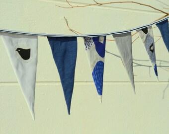 Linen Party Garland, Bunting Garland, Garland Banner, Bunting Flags, Fabric Garland,Wedding Bunting, eco-friendly bunting, wedding decor