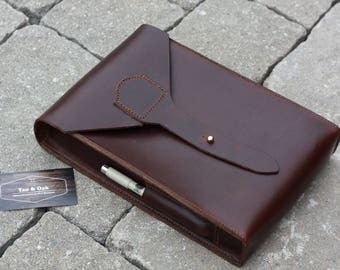 Full Grain Leather Bible Case sleeve - Horween Chromexcel
