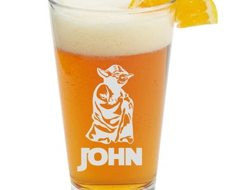 Yoda,Jedi Order, Personalized Glass- Themed Pint Glasses-Beer Glass