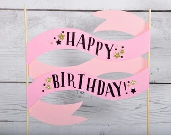 Birthday banner - paper ribbon