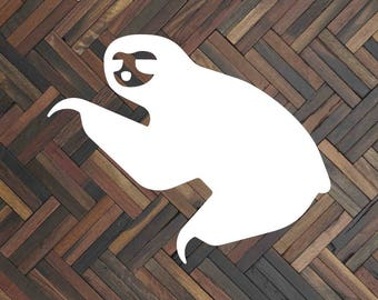 Sloth decal Sloth sticker Sloth car decal Sloth shirt Sloth print Sloth phone decal Sloth laptop decal Sloth window decal Sloth gift