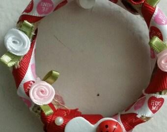 Mini rose and ladybug wreath