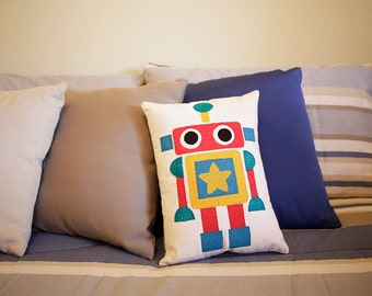 Fun Handmade Robot Cushion