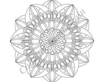 Entwined Circles Coloring Page