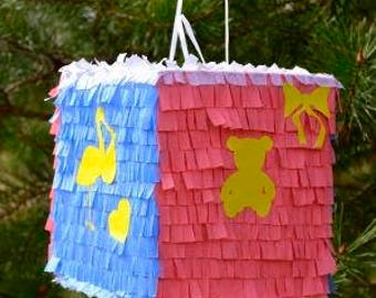baby shower pinata etsy. Black Bedroom Furniture Sets. Home Design Ideas