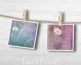 Set of 2 pictures Nursery decor Pink Purple wall art Nursery room decor Children bedroom Wall art 10x10 Dreamy photography Printable picture