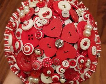 Polka dots button bouquet