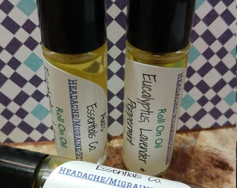 Headache/Migraine/Stress Roll On Oil 10ml