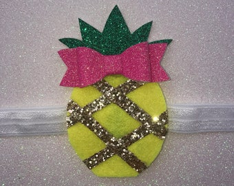 Pineapple Hairbow - headband or clip