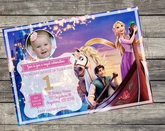 Personalized Disney's Tangled Rapunzel Birthday Invitation- Digital File Only- DIY 5x7