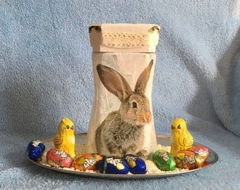 Easter decoration Easter nest decoration glass Easter Bunny
