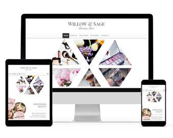 Website Design, Web Design, Custom Website, Chic Website, Beauty Website, makeup website