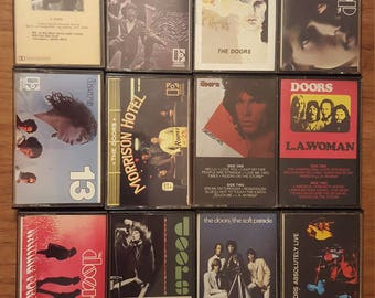 Vintage Lot of 12 Cassettes from Jim Morrison and The Doors
