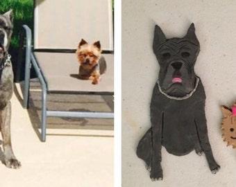 Customized Dog Clay Art