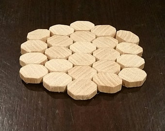 Sliced wood coasters