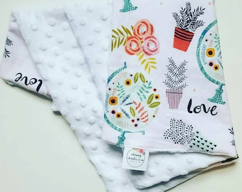 All Things Love || cotton & minky blanket.