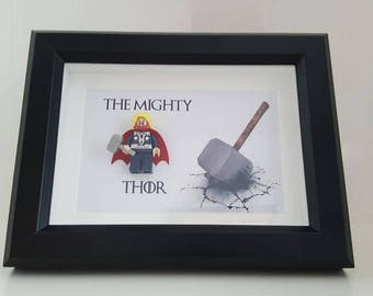 Thor The Avengers Minifigure 3D Picture Frame Box