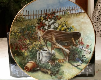 Fine China from W.S. George Vintage Hand Painted by Glenna Kurz circa 1994