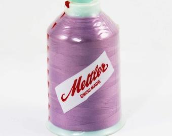 One Spool Nylon Thread, Mettler Metroflock 1237, Swiss 100% Nylon Thread, 1094 Yards, Pink Serger Overlock Thread, Lavender Serger Thread
