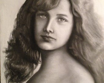 Portrait of young Victorian girl